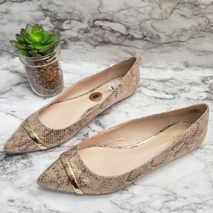 Nine West Snake Skin Pointed Flats Shoes | NWT | 8